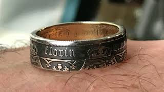 FREE - Black and 24ct gold Gothic coin ring