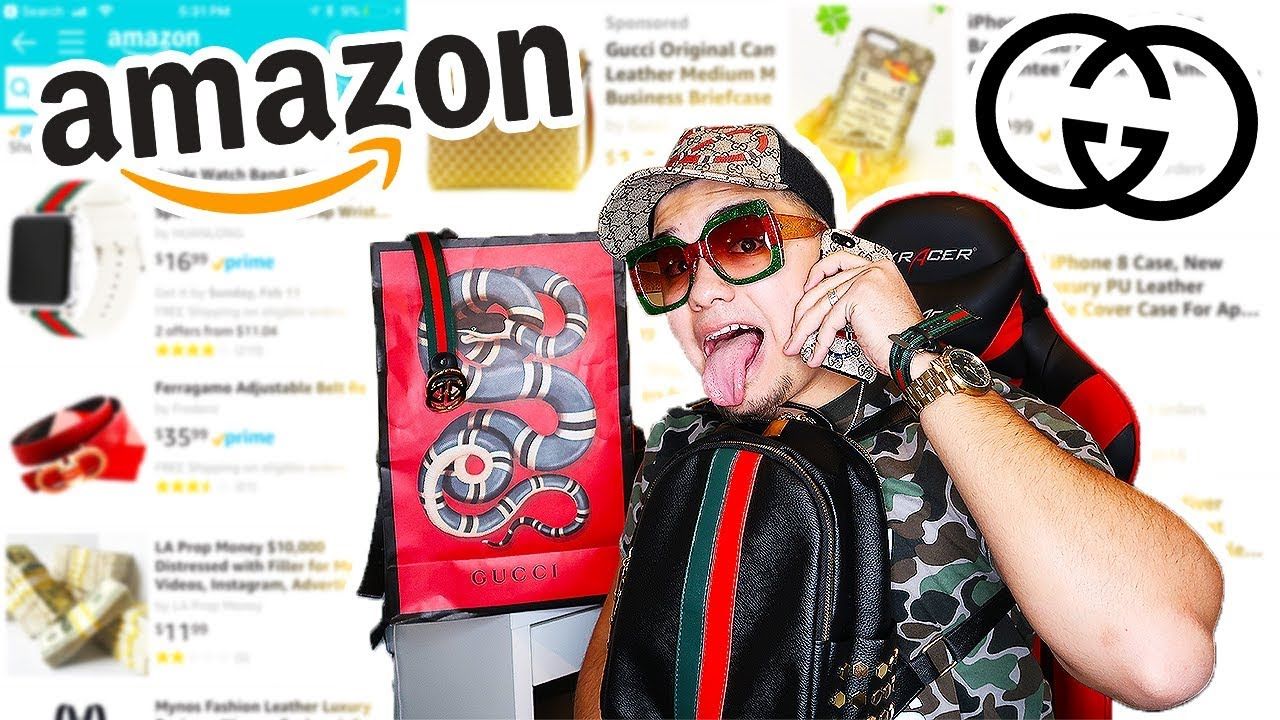 the latest 71666 8791a I BOUGHT $5000 WORTH OF GUCCI FROM AMAZON UNBOXING!! (GUCCI TRY-ON HAUL)