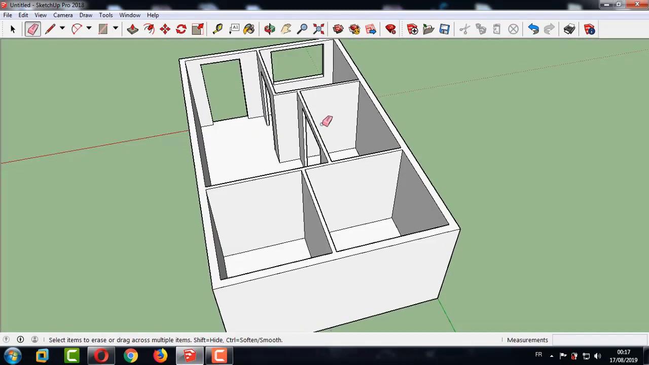 تصميم منزل مساحة 60 متر مع درس تعلم التصميم للمبتدئين Youtube