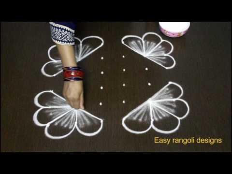 latest muggulu rangoli designs with 6 dots - small kolam designs