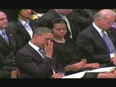 Michelle Obama Stares At Barack Obama Crying - YouTube