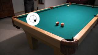 "Rail Cut Shot Aiming, w/ and w/o Sidespin - from ""How To Aim Pool Shots (HAPS)"" - NV E.6"