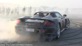 Porsche Carrera GT Going MAD! Crazy Donuts