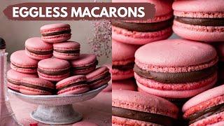 HOW TO MAKE EGGLESS MACARONS  EASY EGGLESS MACARONS RECIPE  NO EGG MACARONS  BAKE WITH SHIVESH