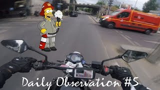 Daily Observation #5 : Accidents, Pompiers, Journée à Paris