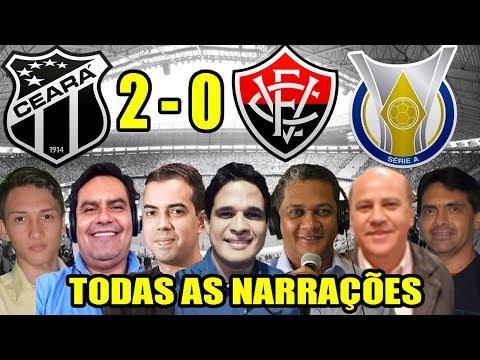 Todas as narrações - Ceará 2 x 0 Vitória / Brasileirão 2018