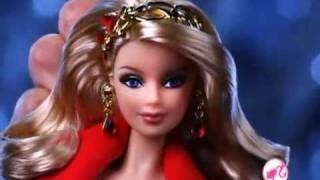 2010 Barbie Collector Holiday Barbie Doll Commercial