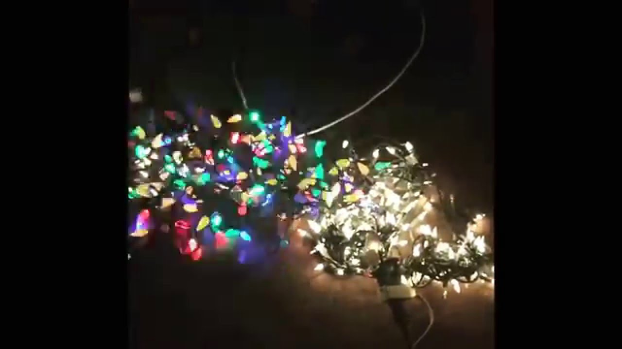 LED Christmas lights in slow-motion. - YouTube