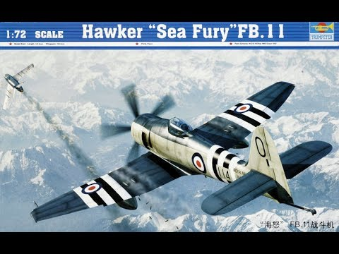 Trumpeter 1/72 Sea Fury FB.11 Build-log and Reveal