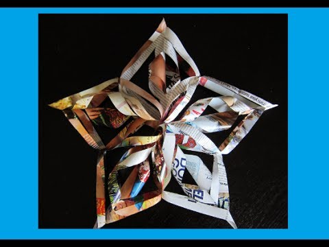 Christmas Crafts- 3D Paper Snowflakes - Christmas Star Tree Topper ...