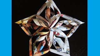 Christmas Crafts- Paper Snowflakes, Christmas Star, Tree Topper, Decoration, Decor, Paper Star, Easy