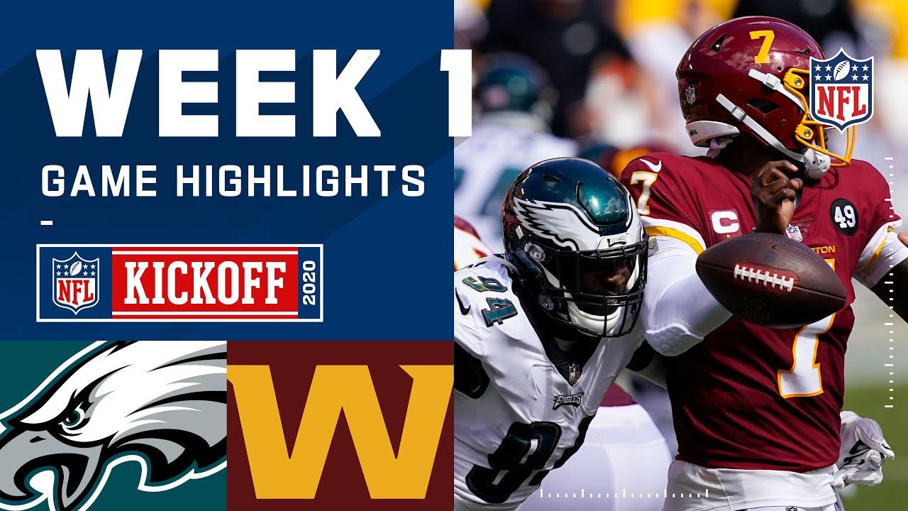 Eagles Vs Washington Football Team Week 1 Highlights Nfl 2020 Youtube