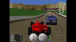 TORCS gameplay - car1-ow1 versus all on Dirt Track Dirt 5