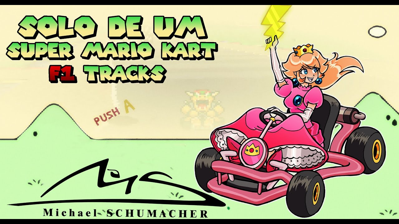 Super Mario Kart F1 Tracks 50cc Michael Schumacher Peach Youtube