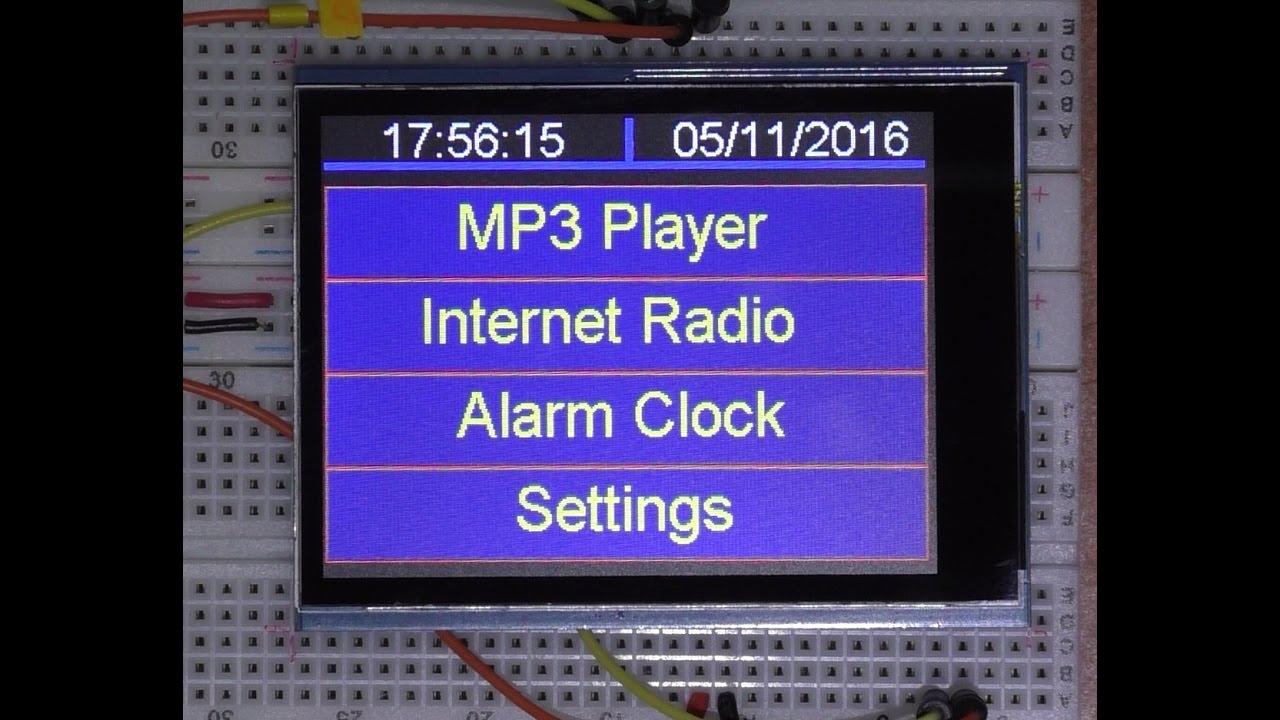 IOT Arduino project ( Teensy 3 6 ) Internet radio and MP3 player ESP8266  WIFI