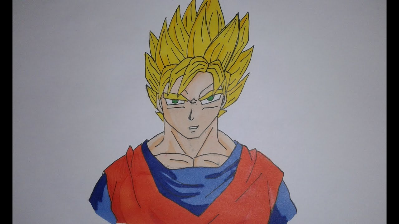 Comment Dessiner Sangoku Super Saiyen Tuto Youtube