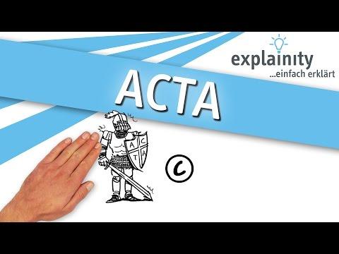 ACTA einfach erklärt (explainity® Erklärvideo)