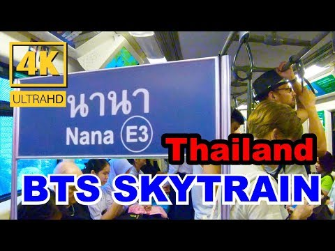 Walking Trips In Bangkok From Bts Siam Station Go To Nana Station - 4k