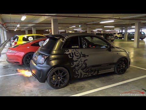 INSANE 240HP Stage 3 Abarth 500 w/ Romeo Ferraris Exhaust - LOUD Bangs & Accelerations !