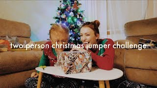 Two Person Christmas Jumper Challenge | #The12DaysofFlickmas DAY 8