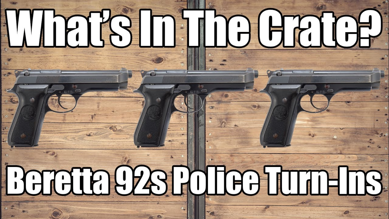 What's In The Crate? Beretta 92S 9mm Police Turn-ins  Surplus Good / Very  Good