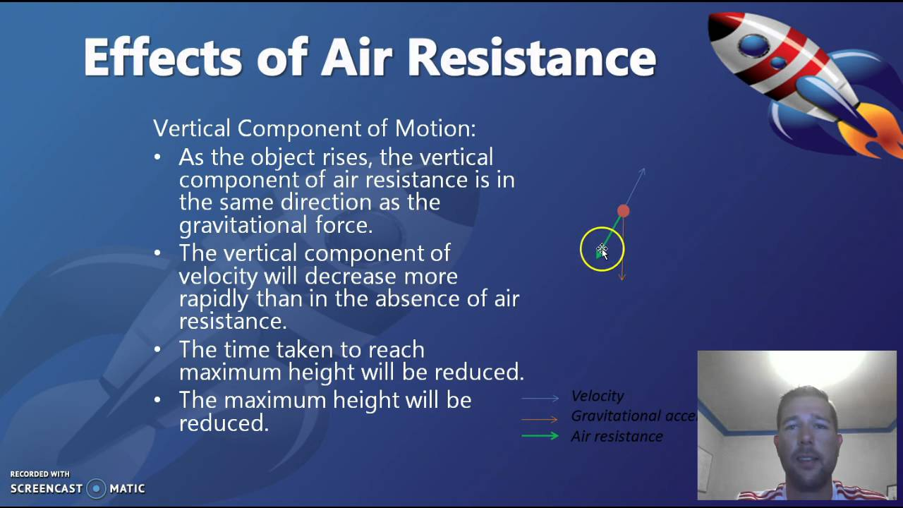 """the effect of air resistance with"