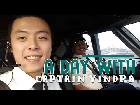 Citilink Flight - A day with Captain Vindra ( Vincent Raditya ) Cockpit Video