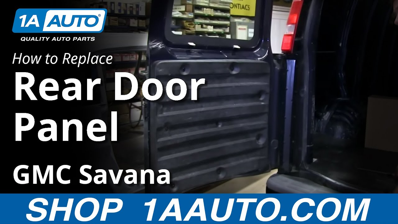 how to remove rear inside door panel chevy express gmc savana cargo van youtube. Black Bedroom Furniture Sets. Home Design Ideas