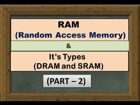 RAM (Random Access Memory) and its types (PART - 2)