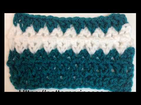 How to Crochet the Double Crochet V-Stitch