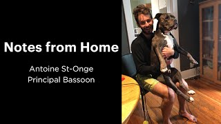 Notes from Home: Antoine St-Onge   Principal Bassoon