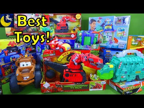 LOTS of Best Toys for Christmas 2017 Gift Ideas Dinotrux Paw Patrol Toys Disney Cars 3 PJ Masks Set
