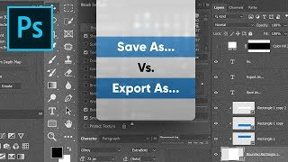 """Difference Between """"Save As"""" & """"Export As"""" in Photoshop!"""