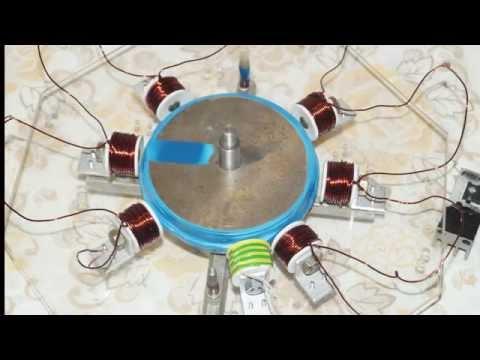 Самодельный электромагнитный двигатель Radial Solenoid Engine
