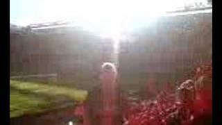 Hat Cat inside Anfield