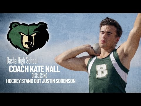 Basha High School Coach Kate Nall discusses hockey stand out Justin Sorenson—Chandler, Arizona