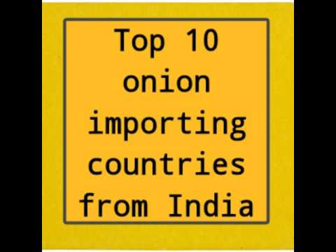 Top 10 countries importing fresh onion from India