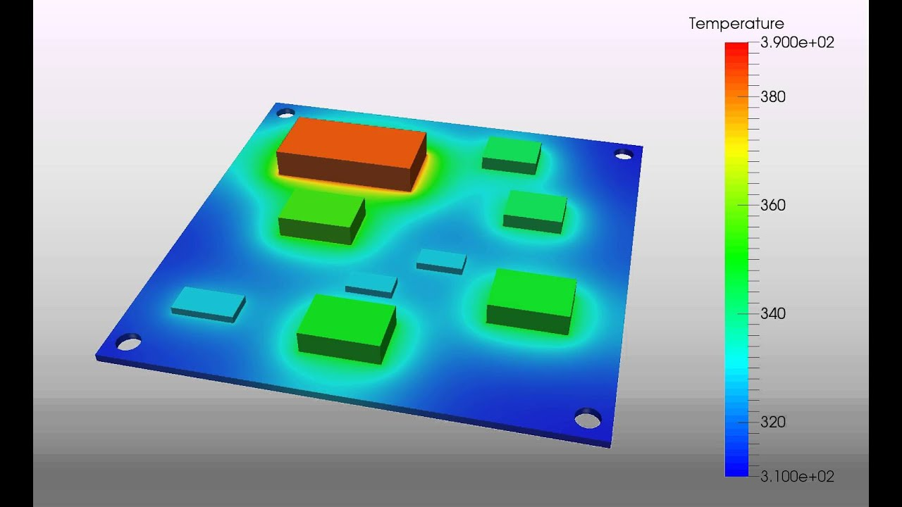 Thermal Analysis of a Printed Circuit Board - SimScale