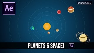 After Effects Tutorial: 2D Planets & Solar System Motion Graphics