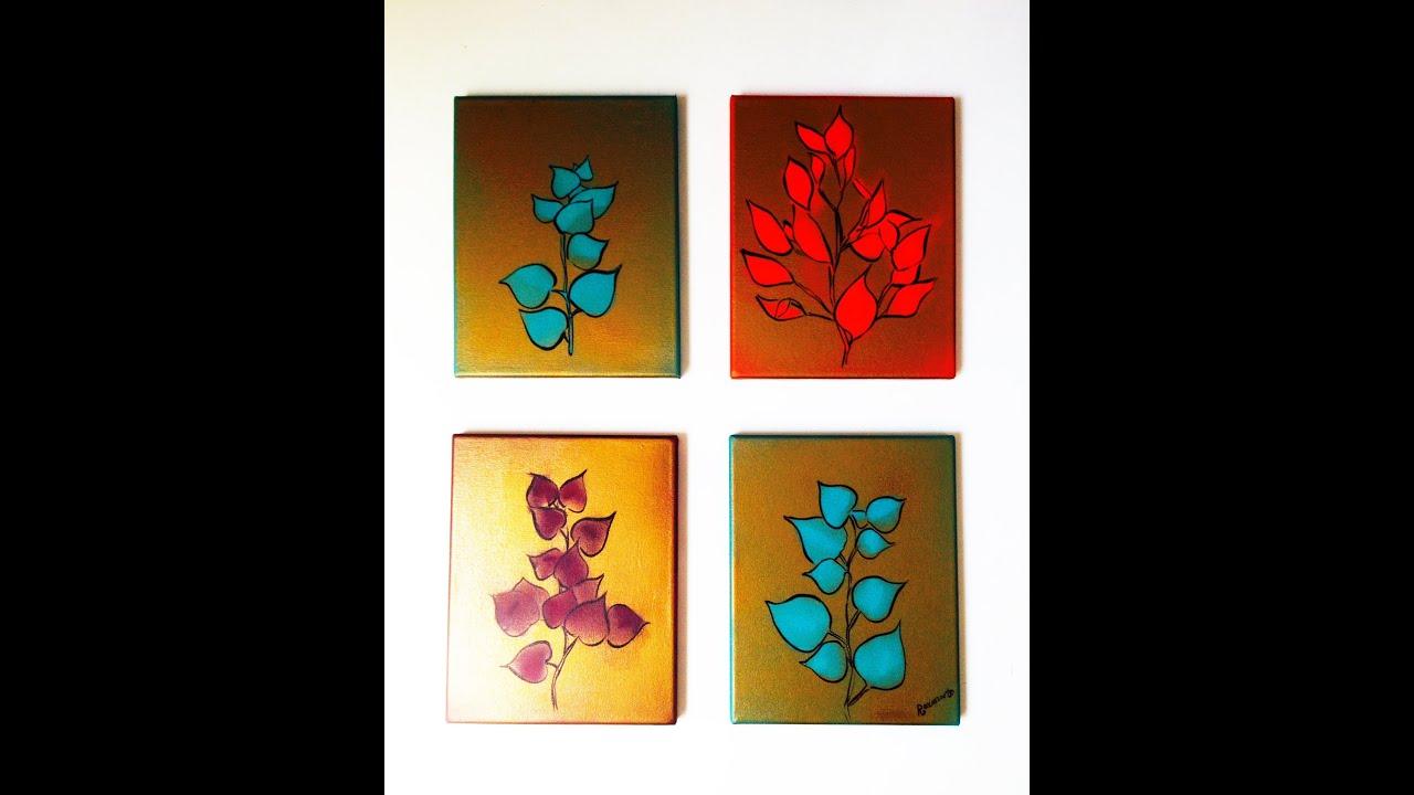 C mo hacer cuadros para decorar o regalar f cil y r pido for Imagenes de cuadros abstractos faciles de hacer