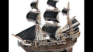 Timelapse - Blackbeard's Ship, Queen Anne's Revenge 3d Puzzle