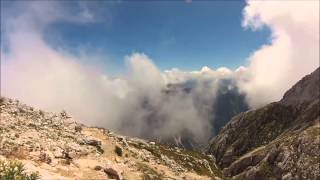 Julian Alps - Hike on Mangart (Slovenian route) GOPRO