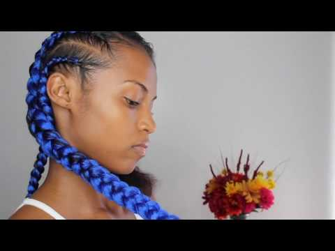 Feed-in Braids w/Kanekalon braiding Hair