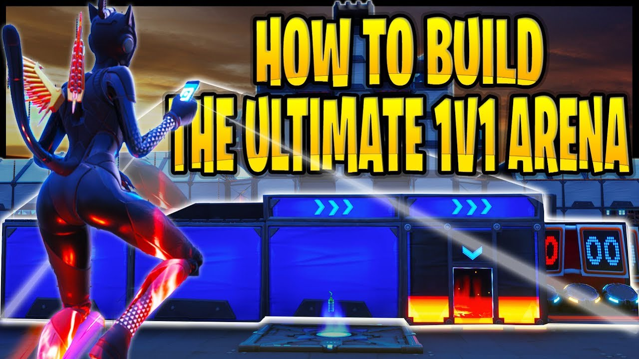how to build the ultimate fortnite 1v1 arena w interactive start timer map code 6021 1007 1075 - the ultimate fortnite map