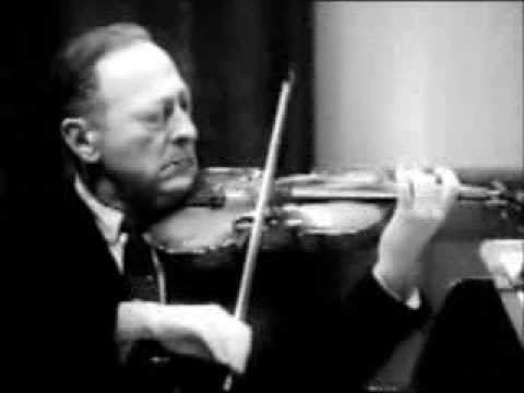 BACH Double Violin Concerto (Largo) JASCHA HEIFETZ & ERICK FRIEDMAN 1962