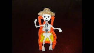 Esqueleto con  limpiapipas manualidades  dia de muertos halloween /decoración