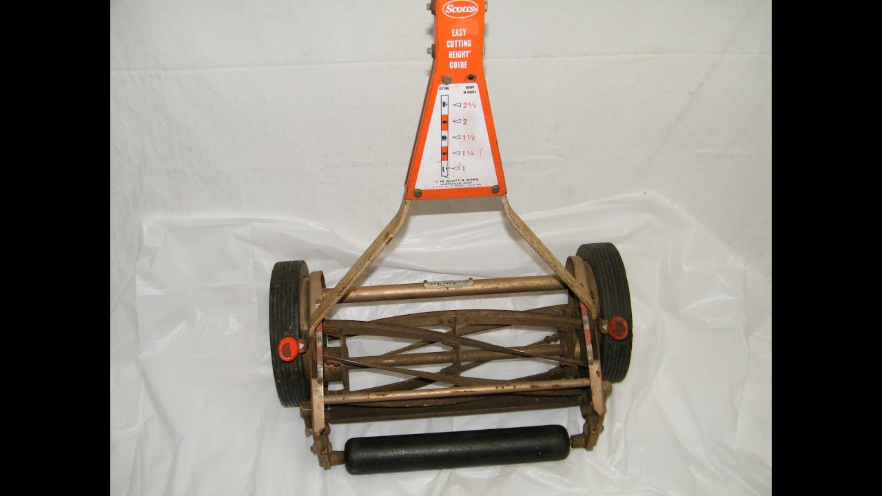 Vintage 60 S Scotts Silent Push Mower Manual Reel W