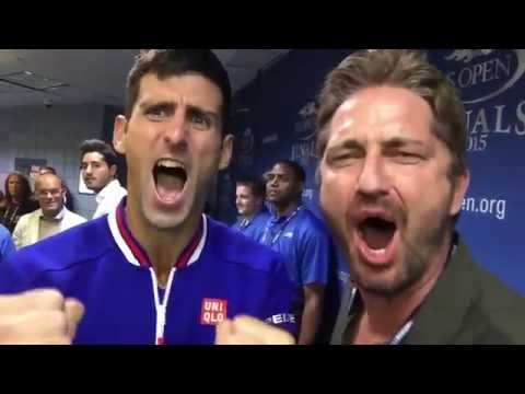 Novak Djokovic and Gerard Butler--THIS IS SPARTA!!!
