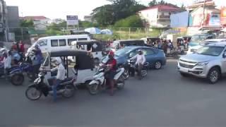 CAMBODIA:  PHNOM PENH:  TRAIN TO CENTRAL STATION: FULL RIDE