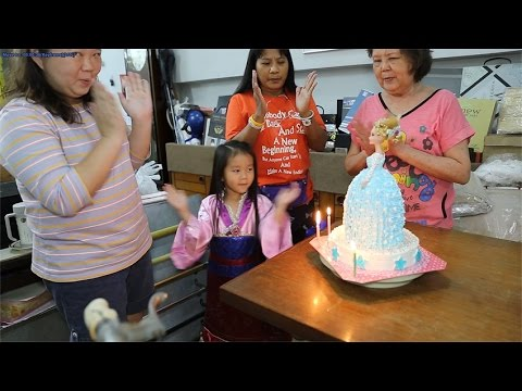 N'Prim W260 เด็กจิ๋วเป่าเค้กวันเกิดเจ้าหญิงเอลซ่า